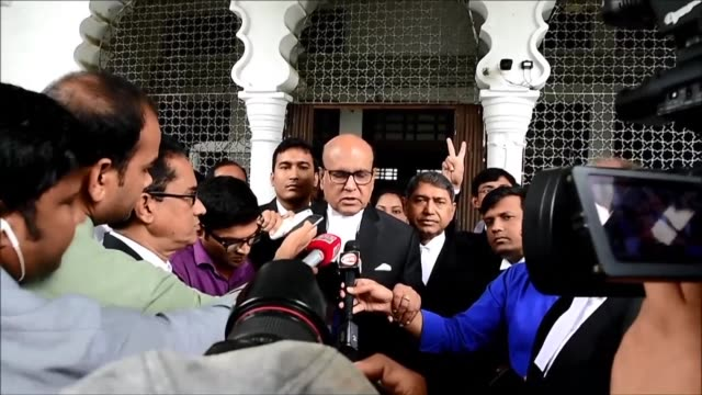 lawyers for bangladesh's 72 year old opposition leader khaleda zia leave court after she was granted bail on corruption charges due to health risks... - zia stock videos & royalty-free footage