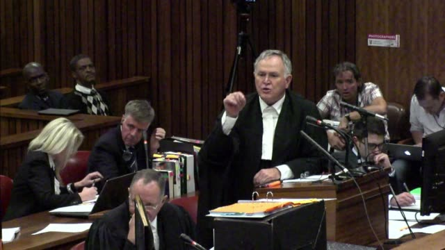 lawyers for paralympian oscar pistorius for a second day on tuesday grilled a key witness at his murder trial who claims to have heard screams then... - witness stock videos & royalty-free footage