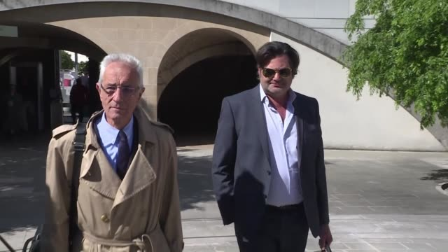 lawyers representing a french anaesthetist suspected of poisoning his patients arrive outside the court in besancon - anaesthetist stock videos & royalty-free footage