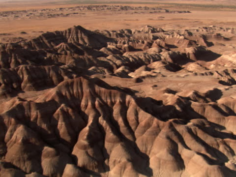 layered hills of the painted desert - artbeats stock videos & royalty-free footage