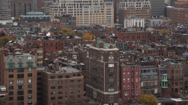 layered row houses in boston's back bay neighborhood. shot in 2011. - back bay boston stock videos & royalty-free footage