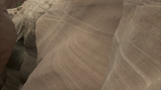 Layered sandstone rock formation