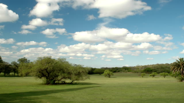 layers of clouds over ranch in argentina - earth goddess stock videos & royalty-free footage