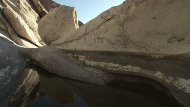 layers of rock reflect in water - image manipulation stock videos and b-roll footage
