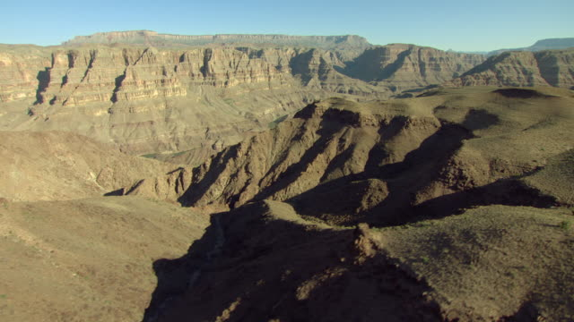 layers of sedimentary rock form the cliffs of the grand canyon. - sedimentary rock stock videos & royalty-free footage