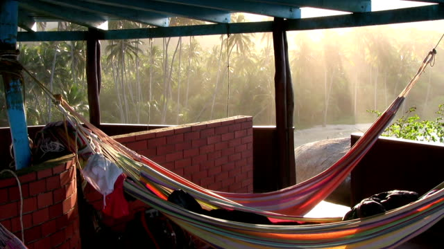 hd: laying in the hammock - tayrona national park stock videos and b-roll footage