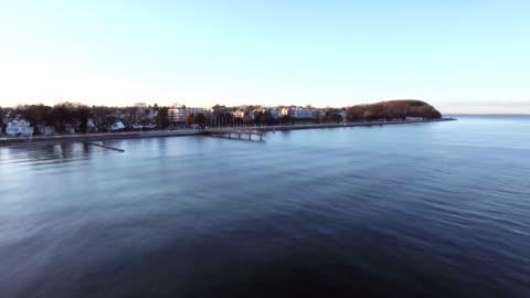lübeck-travemünde aerial view - nordsee stock-videos und b-roll-filmmaterial