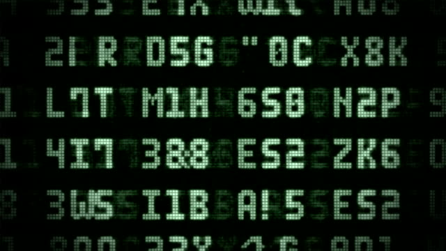 lcd random numbers - retro style stock videos & royalty-free footage