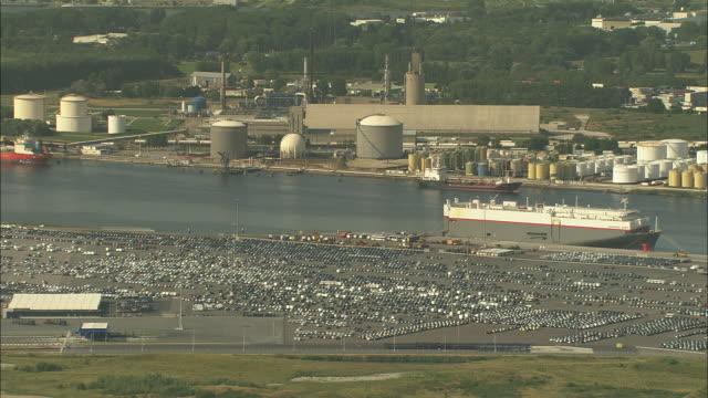 vidéos et rushes de le havre port and harbour - container