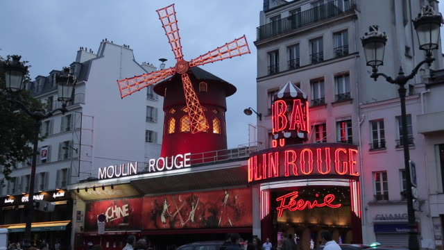 Le Moulin Rouge, Boulevard de Clichy, Paris, France, Europe