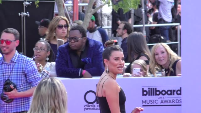 Lea Michele arriving to the Billboard Awards at TMobile Arena in Celebrity Sightings in Las Vegas