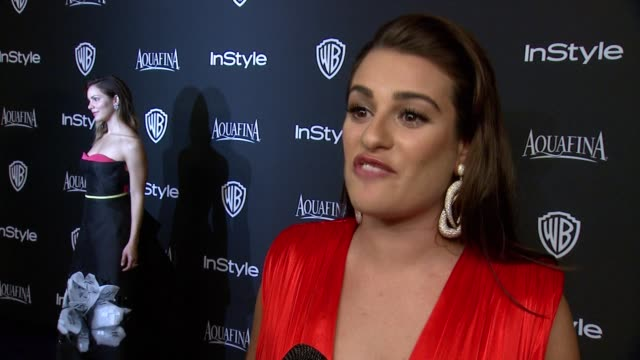INTERVIEW Lea Michele at 16th Annual InStyle And Warner Bros Golden Globe AfterParty on January 11 2015 in Beverly Hills California
