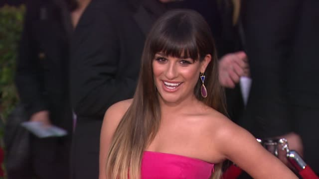 Lea Michele at 19th Annual Screen Actors Guild Awards Arrivals on 1/27/13 in Los Angeles CA