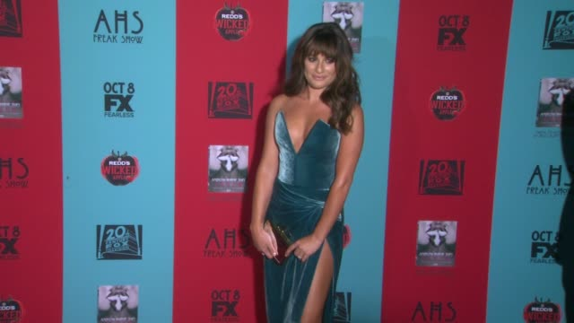 Lea Michele at American Horror Story Freak Show Los Angeles Premiere at TCL Chinese 6 Theatres on October 05 2014 in Hollywood California