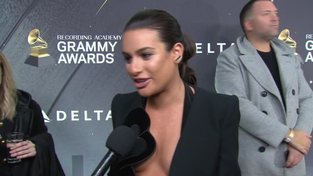 INTERVIEW Lea Michele at Delta Grammys Party on January 25 2018 in New York City