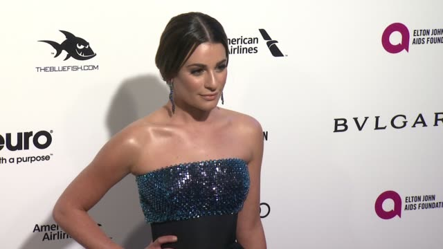Lea Michele at Elton John AIDS Foundation Presents 24th Annual Academy Awards Viewing Party on February 28 2016 in West Hollywood California