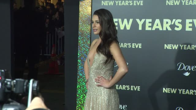 Lea Michele at New Year's Eve World Premiere on 12/5/11 in Hollywood CA