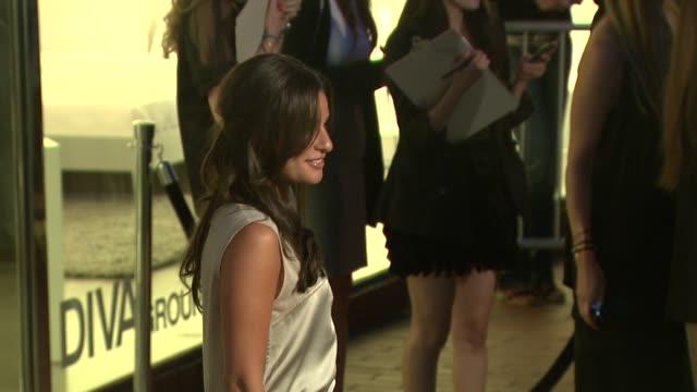lea michele at the 'home' screening at stella mccartney at los angeles ca. - ブランド ステラマッカートニー点の映像素材/bロール