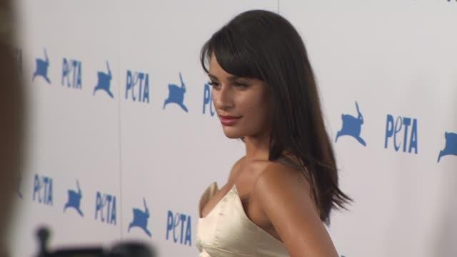 Lea Michele at the PETA's 30th Anniversary Gala And Humanitarian Awards at Hollywood CA