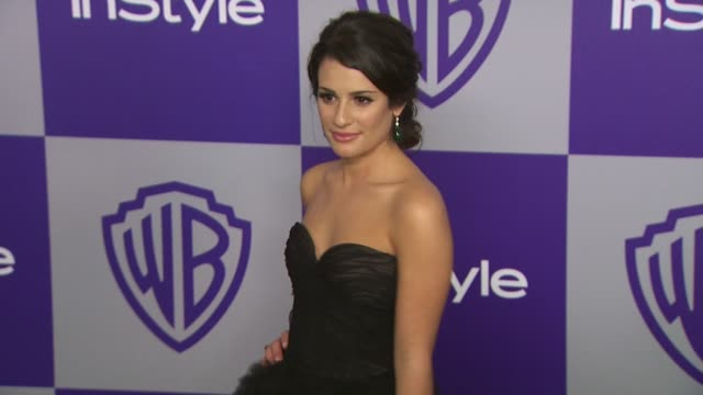 vídeos y material grabado en eventos de stock de lea michele at the warner bros and instyle golden globe afterparty at beverly hills ca - warner bros