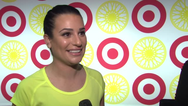 INTERVIEW Lea Michele on being excited about the partnership between Target and SoulCycle She's s huge fan of both She could spend hours in Target...