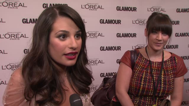 Lea Michele on Broadway aspirations at the GLAMOUR Magazine's 21st Annual Women Of The Year Awards at New York NY