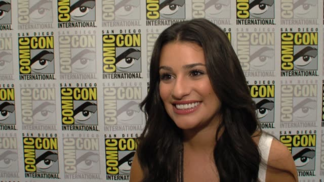 lea michele on how her day is going on watching the second of glee with an audience on what it's like to see the audience reaction to the show on... - glee tv show stock videos and b-roll footage