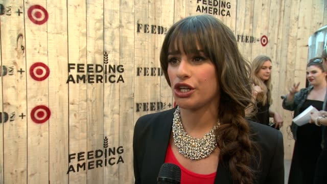 INTERVIEW Lea Michele on why tonight is so important On her admiration for Lauren Bush Lauren and her work On why she loves Target at FEED USA Target...