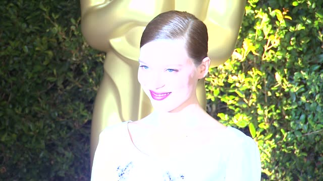 lea seydoux at academy of motion picture arts and sciences' governors awards in hollywood ca on - academy of motion picture arts and sciences stock videos & royalty-free footage