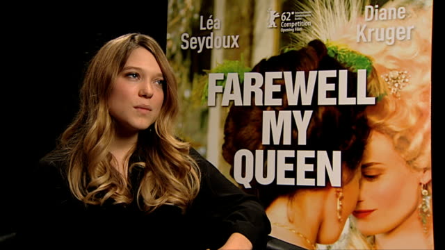 lea seydoux on her character the relationship with marie antoinette at les adieux a la reine interview 62nd berlin international film festival at at... - marie antoinette stock videos and b-roll footage