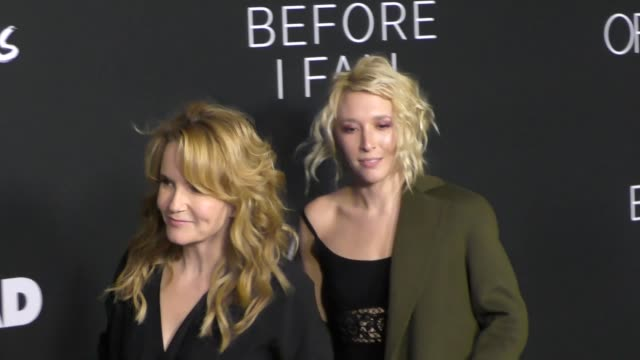 vídeos de stock, filmes e b-roll de lea thompson and madelyn deutch at the 'before i fall' premiere on march 01 2017 in west hollywood california - lea thompson