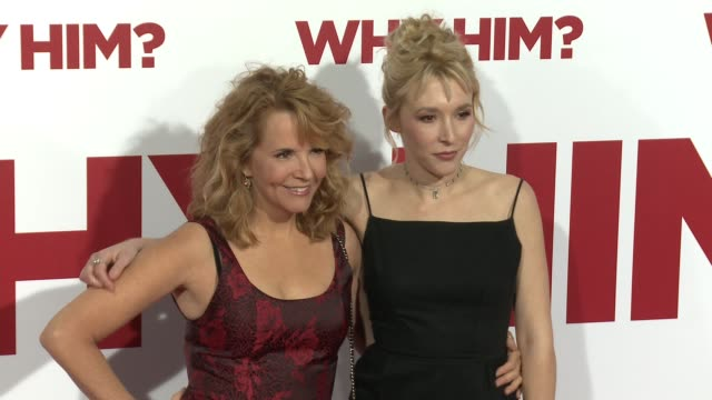 Lea Thompson and Madelyn Deutch at the Why Him World Premiere at Regency Bruin Theater on December 17 2016 in Westwood California