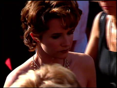 lea thompson at the 1996 emmy awards arrivals at the pasadena civic auditorium in pasadena, california on september 8, 1996. - pasadena civic auditorium stock videos & royalty-free footage