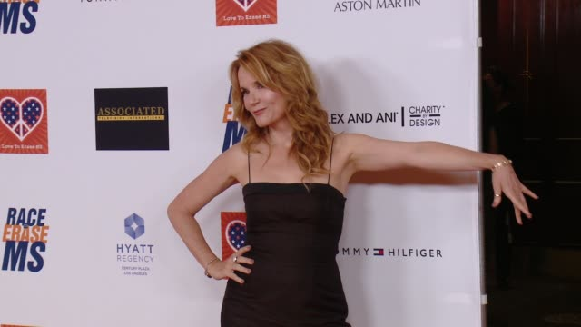 lea thompson at the 22nd annual race to erase ms in los angeles ca - race to erase ms stock videos and b-roll footage