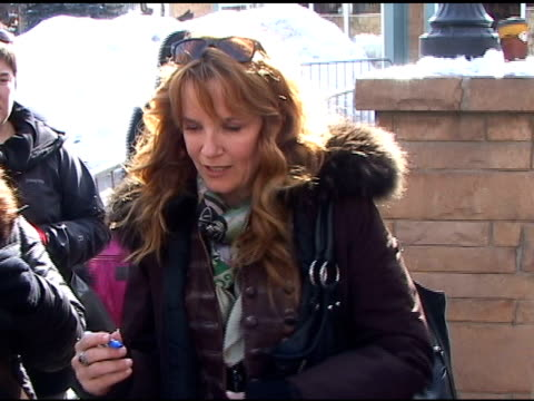 lea thompson in park city utah 01/24/11 at the celebrity sightings in park city utah at park city ut. - park city stock videos & royalty-free footage