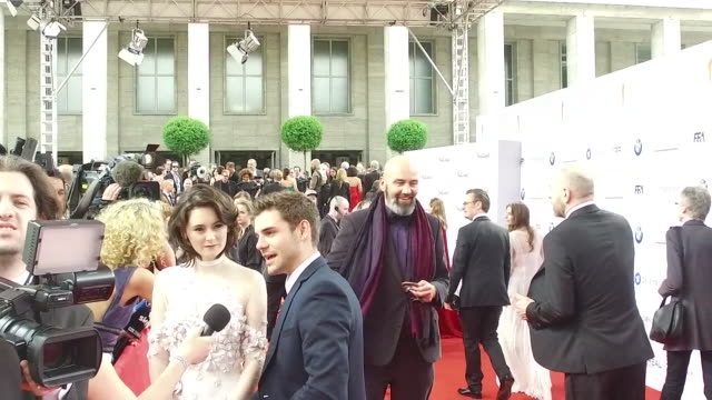 Lea van Acken and Lucas Reiber at the Lola German Film Award at Messe Berlin on May 27 2016 in Berlin Germany