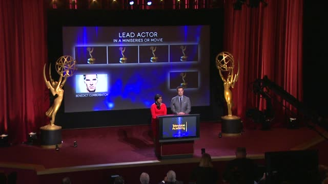 Lead Actor in a Miniseries or a Movie nominees announced by Carson Daly and Mindy Kaling 66th Primetime Emmy Awards Nominations Announcement at...