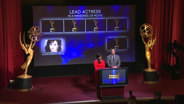 Lead Actress in a Miniseries or Movie nominees announced by Carson Daly and Mindy Kaling 66th Primetime Emmy Awards Nominations Announcement at...