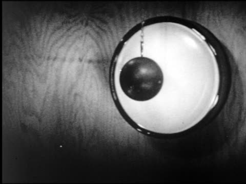 b/w high speed lead ball smashing into television tube(?) - demolished stock videos & royalty-free footage