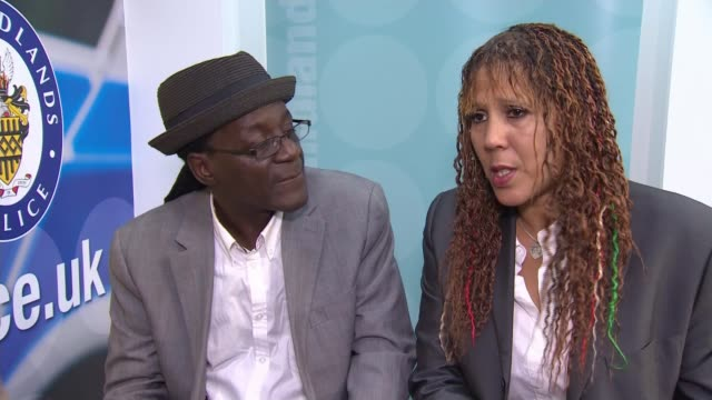 lead singer of the specials appeals for information following his grandson's fatal stabbing; england: west midlands: coventry: int neville staple and... - コベントリー点の映像素材/bロール