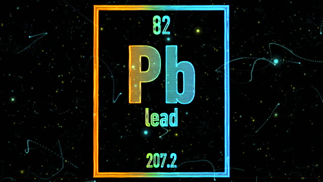 lead symbol as in the periodic table - lead stock videos & royalty-free footage