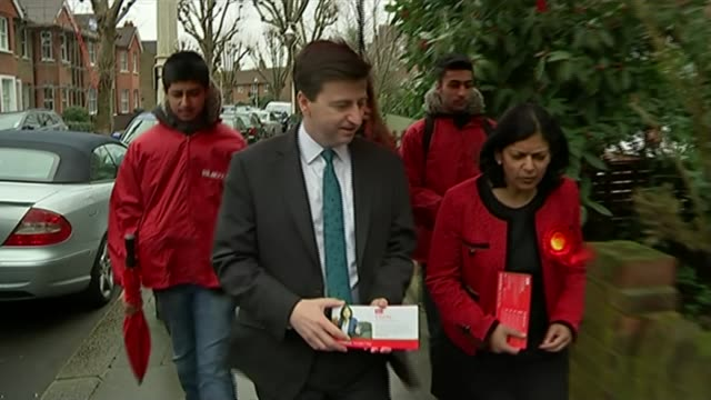 lead up to dissolution of parliament; location unknown: ext douglas alexander mp along campaigning with labour supporters douglas alexander mp... - douglas alexander stock videos & royalty-free footage