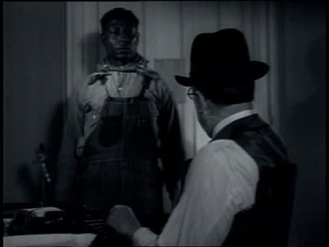 leadbelly thanking john lomax for helping him get a pardon from the governor and offering to work for him / wilton connecticut united states - 1935 stock videos & royalty-free footage