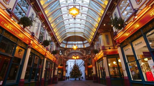 Leadenhall Market at Christmas Time, London, England, Great Britain