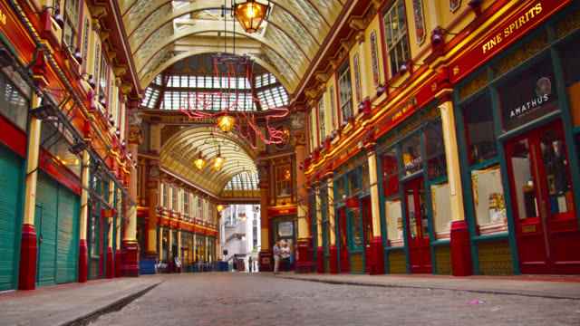 leadenhall market. london. - victorian stock videos & royalty-free footage