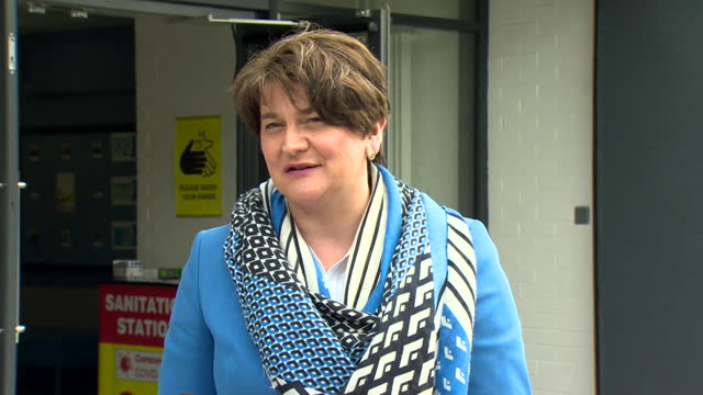 """leader arlene foster saying she has """"bigger things to do"""" than focus on challenges to her leadership - challenge stock videos & royalty-free footage"""