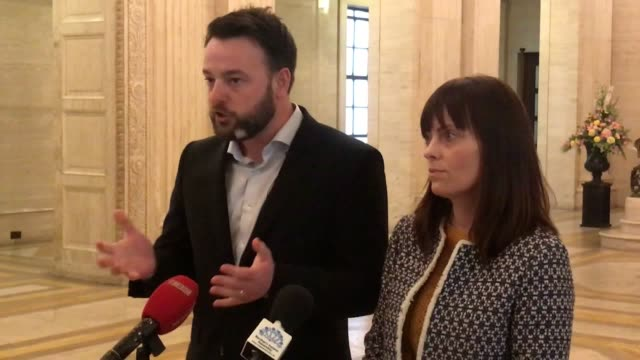 SDLP leader Colum Eastwood accompanied by deputy leader Nichola Mallon has proposed a temporary suspension of a controversial veto mechanism to...