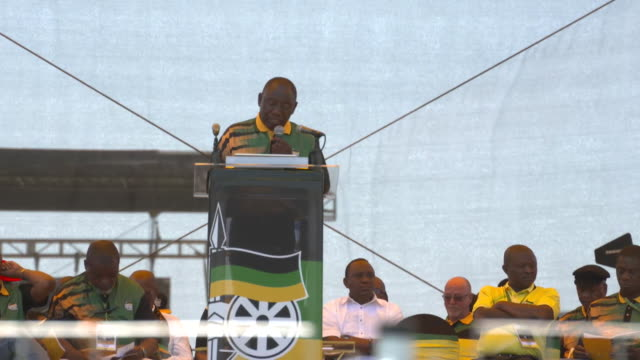 ANC Leader Cyril Ramaphosa gives maiden speech at the ANC rally in East London South Africa