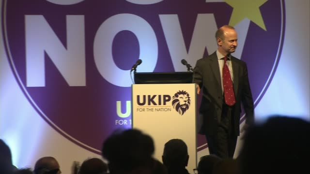 Leader Henry Bolton splits with girlfriend in racist message row LIB / 1412018 Torquay *** WARNING Henry Bolton on stage after winning leadership...
