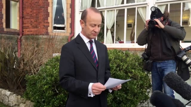Leader Henry Bolton tells media he will not resign in a statement made at The Grand hotel in Folkestone despite a series of senior figures quitting...